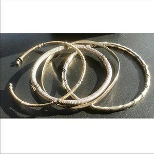 𝔙𝔦𝔫𝔱𝔞𝔤𝔢-𝔩ot of 4 sterling  bracelets